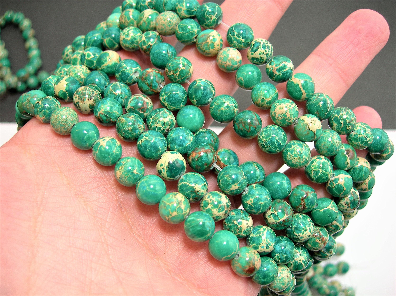 Very best Sea Sediment Jasper - 8mm - round bead - 49 beads - full strand  BD64