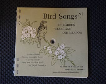 1964 Bird Songs of Garden Woodland and Meadow  National Geographic Society Bird Songs  Ornithology