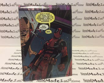 Deadpool comic book wallet. Best wallet ever check it out. Plus FREE wallet with every order