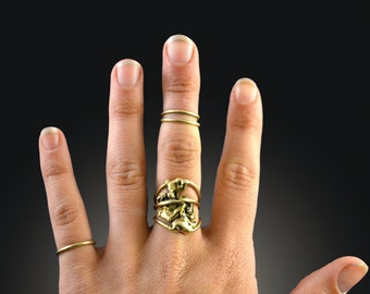 Bronze Knuckle Rings