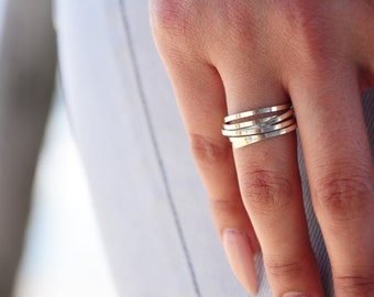 eco-friendly sterling silver wire wrapped rings