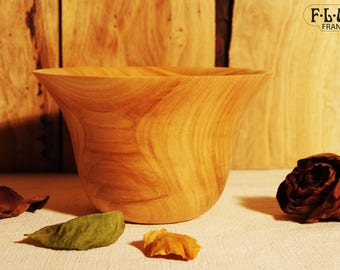 Flared cherry wood Bowl