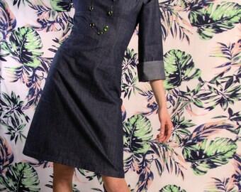 Dress BIO-Tomoe: organic cotton, nightblue
