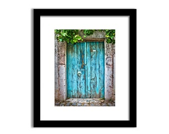 Blue door print, Door photo, Travel photography, Old door wall art, Travel decor, Rustic decor, Vintage door, Digital Print, Printable 8x10