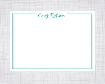 A2 Size Note Cards. Personalized Note Cards. Modern Calligraphy Note Cards.