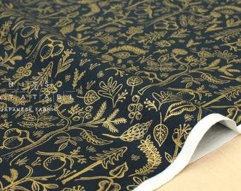 Cotton + Steel Amalfi - black forest navy metallic - fat quarter