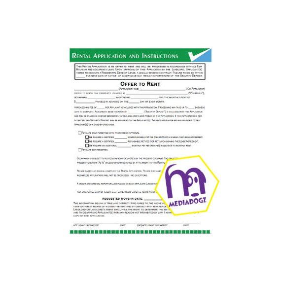 Printable Editable Fillable Customize PDF Rental Lease