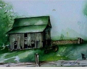 The Little Green Topped Barn (Original Painting)