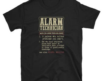 Alarm Technician Shirt Definition Gift  Tee