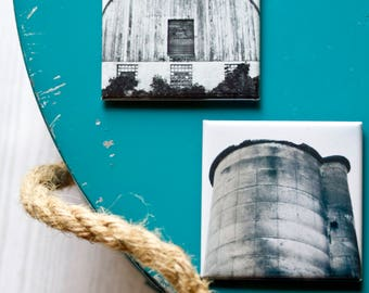 Barn & Silo Magnets, Farmhouse Kitchen Decor, Fridge Magnets, Country Style
