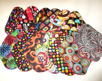 """RTS 8"""" Regular Moderate Medium Flow pad cotton top Variety to choose from Cloth Mama Pad Momma Moma Mommy Pad"""