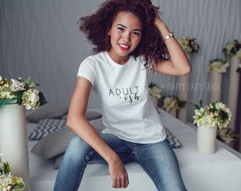 Adult ish 2018 Fashion Summer Women's short sleeve t-shirt