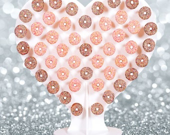Heart Shaped Donut Wall - Holds 94 donuts - Candy cart ferris wheel weddings