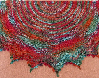 Knitted Lace Shawl pattern Gypsy Lace-Your First Knitted Lace Shawl with worsted weight yarn PDF