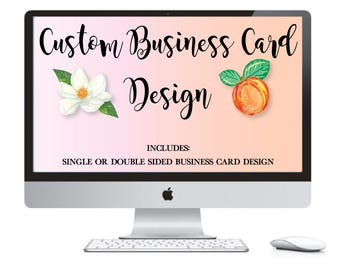 Custom Business Card Design - Custom Business Cards - Business Card Design - Business Branding - Graphic Design - Printable Business Card