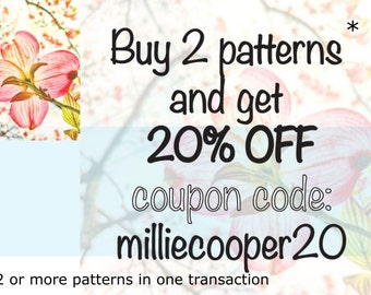 Cross Stitch Pattern Discount - 20% off when 2 or more patterns purchased in one transaction