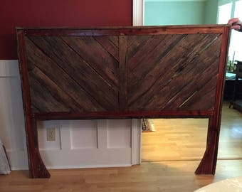 Wood Queen Headboard - Reclaimed wood