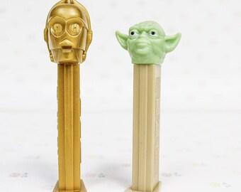 1997 Star Wars C3PO & Yoda PEZ Dispensers Lucasfilm | 1990s Yoda C3PO PEZ Dispenser | Vintage Star Wars Collectibles | 90s Star Wars Toy