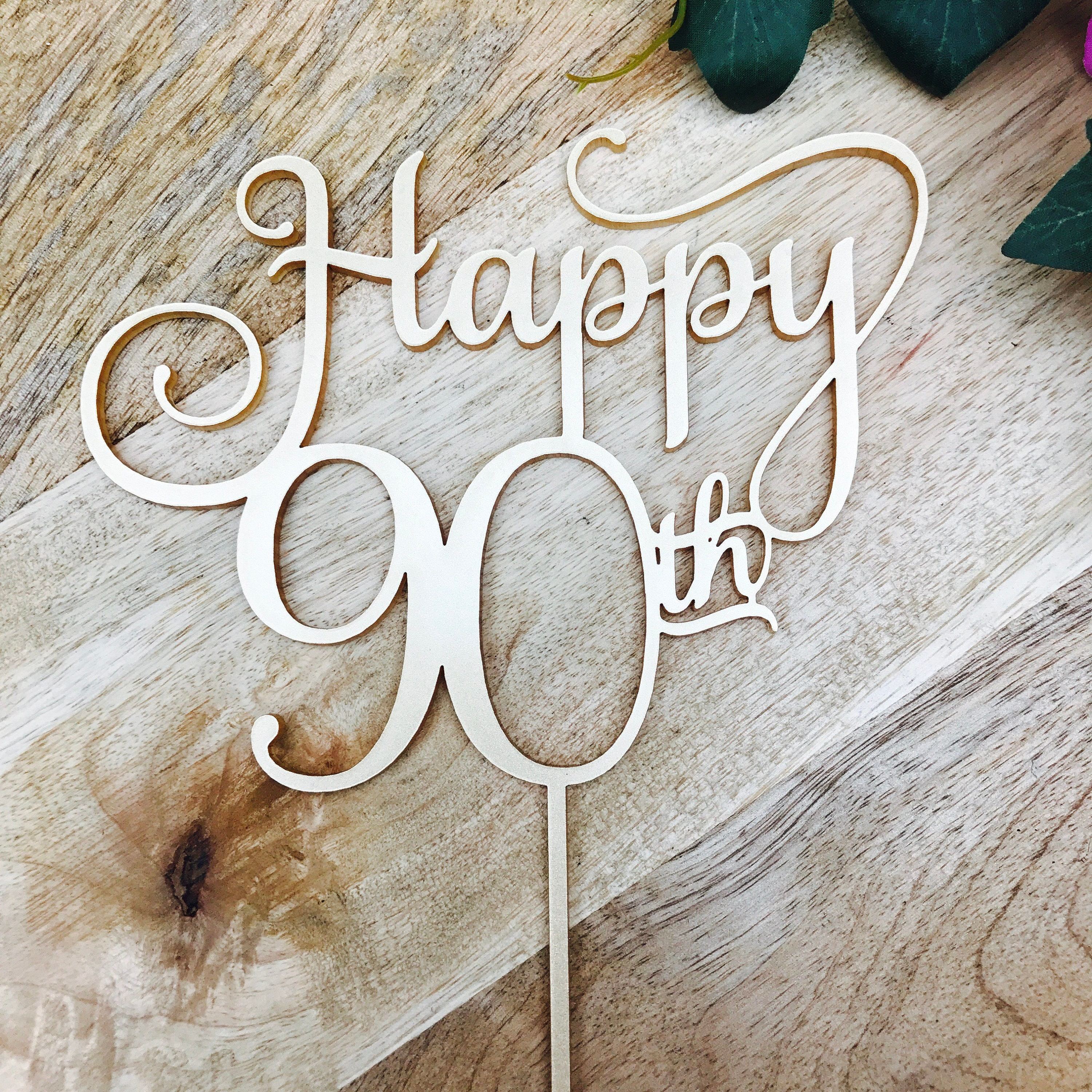 Happy 90th Birthday Cake Topper 90th Topper Cake Decoration Cake