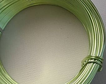 60 m Green 2mm aluminum wire