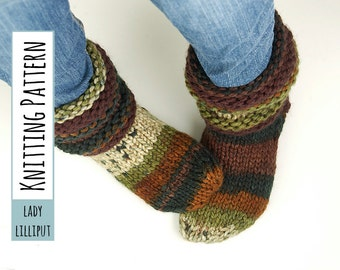 PATTERN - Knitted Slipper Socks