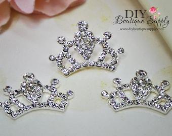 Super Bright Crystal Rhinestone Crown Flatback Flat Back Princess Embellishment Baby Headbands Supplies flower centers 30mm 623053