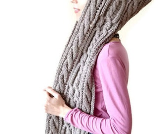 hooded scarf chunky scarf scoodie birthday gifts for women winter scarf long scarf wife gifts wool scarf hood scarf winter hooded scarf