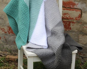 MADE TO ORDER - Crochet baby blanket, Baby blanket, pram blanket, lap blanket, crochet blanket, grey blanket, stripe blanket, unisex blanket