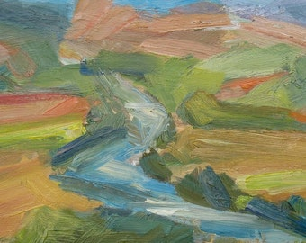 Tiber River GICLEE ART PRINT 8 x 11 umbria italy landscape