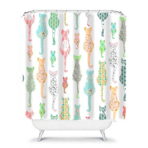 Merveilleux Cats Shower Curtain, Shabby Chic Bathroom, Cat Bathroom Decor, Cat Shower  Curtain,