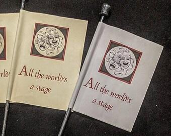 Shakespeare  Paper Venetian Flag Fan - Italian Renaissance - Drama