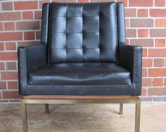 Awesome Drexel Modern Arm Chair With Brass Base