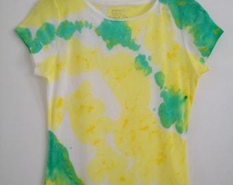 Tie and Dye Tshirt, Tees ad tops, Womens Tee, Grunge Tshirt