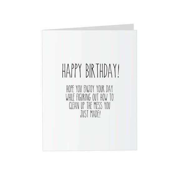Prank Glitter Birthday Card Clean Up Mess