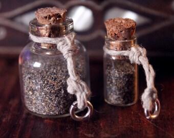 Tiny Bottle of Irish Sand Charm - A piece of Ireland