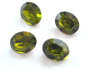 Olivine Swarovski 10x8mm Oval Shape 4100/4128 Fancy Stones 4 Pieces