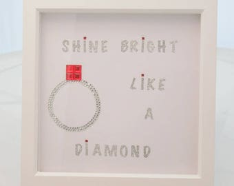 Diamond Ring Picture Frame