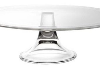 Stunning elegant 13'' glass cake stand - wedding cake stand - custom cake stand - pedestal cake stand