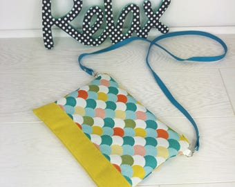 Bag jacquard pattern waves multicolor
