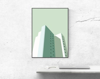 Affiche poster graphic design architecture illustration ArchiImmeuble