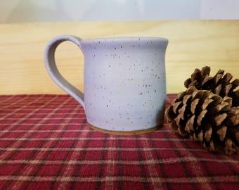 Lavender pottery mug