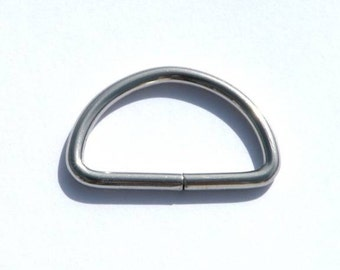 Dee Ring 1 inch (25mm) Nickel plated 25 each