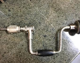 Vintage stanley bit brace ratcheting hand drill bell system