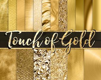 Gold Foil Digital Paper -  gold glitter, gold foil flake, fashion, planner digital paper, gold textures, gold backgrounds, gold metallic