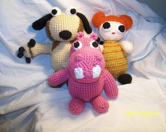 Crochet Hippa Hippa Hey dolls Bow Wow Sophie inspired