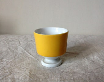 Retro Eggcup - Bright Yellow Eggcup - Vintage Yellow Egg cup - Sixties Eggcup