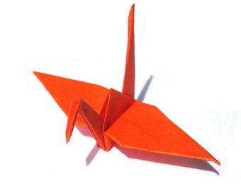 Origami Crane , Orange Paper Crane (1)