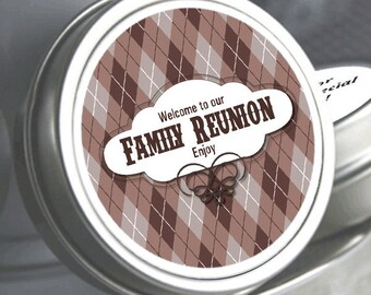 "12 Family Reunion Mint Tins - Backyard BBQ - Select the quantity you need below in the ""Pricing & Quantity"" option tab"