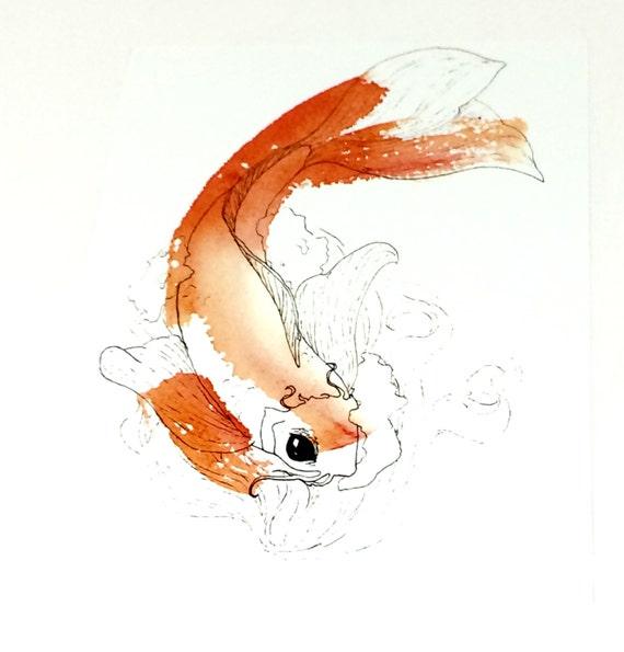 Koi painting koi fish wall art koi art koi fish art for Koi fish canvas art