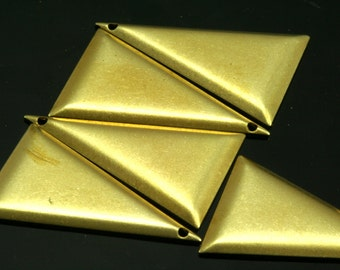 30 pcs 17x25 mm raw brass triangle tag 1 hole raw brass connector charms ,raw brass findings 935RC-23